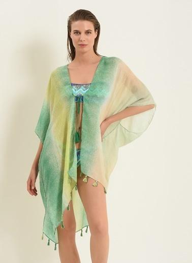Morhipo Beach Kadın Püsküllü Kimono MBKSS21KI0005 Yeşil